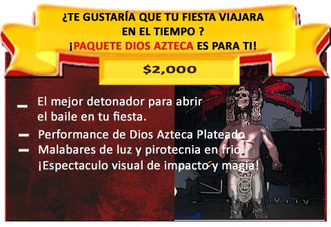 PERFORMANCE DIOS AZTECA PLATEADO